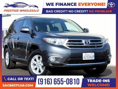 2013 Toyota Highlander for sale at Prestige Wholesale in Sacramento CA
