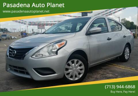 2017 Nissan Versa for sale at Pasadena Auto Planet in Houston TX
