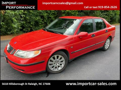 2002 Saab 9-5 for sale at Import Performance Sales in Raleigh NC