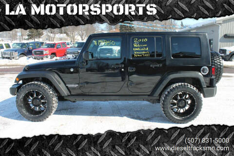 2010 Jeep Wrangler Unlimited for sale at LA MOTORSPORTS in Windom MN