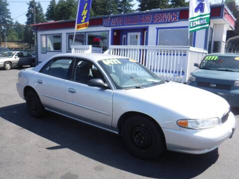 2004 Buick Century for sale at 777 Auto Sales and Service in Tacoma WA