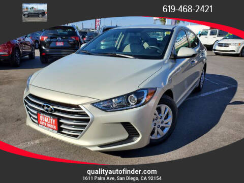 2017 Hyundai Elantra for sale at QUALITY AUTO FINDER in San Diego CA