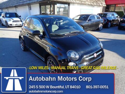 2013 FIAT 500 for sale at Autobahn Motors Corp in Bountiful UT
