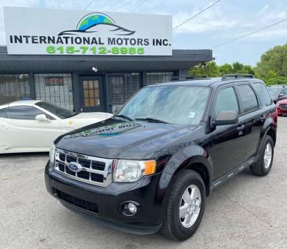2011 Ford Escape for sale at International Motors Inc. in Nashville TN
