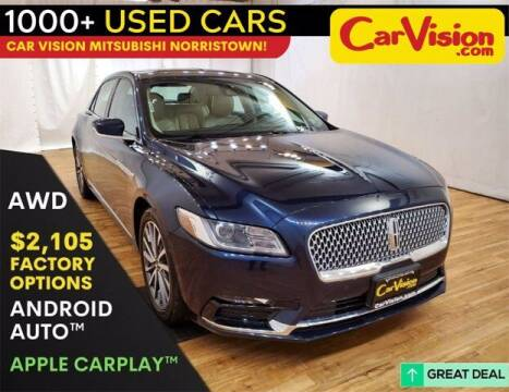 2017 Lincoln Continental for sale at Car Vision Buying Center in Norristown PA