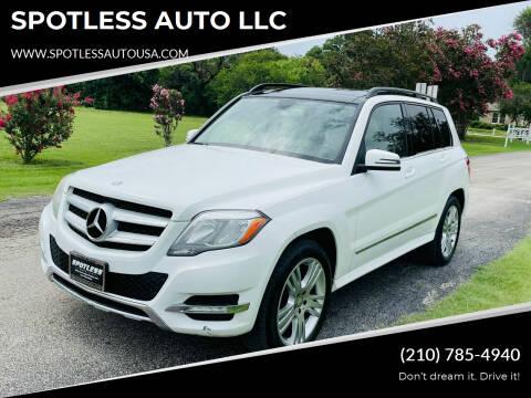 2013 Mercedes-Benz GLK for sale at SPOTLESS AUTO LLC in San Antonio TX