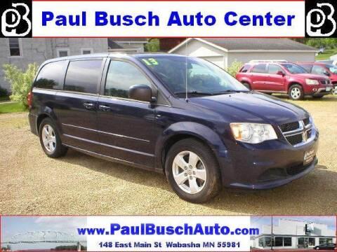 2013 Dodge Grand Caravan for sale at Paul Busch Auto Center Inc in Wabasha MN
