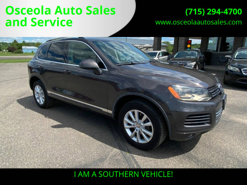 2013 Volkswagen Touareg for sale at Osceola Auto Sales and Service in Osceola WI