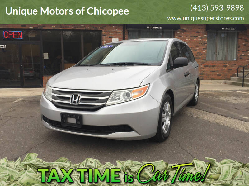 2013 Honda Odyssey for sale at Unique Motors of Chicopee in Chicopee MA