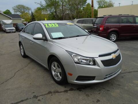 2014 Chevrolet Cruze for sale at DISCOVER AUTO SALES in Racine WI