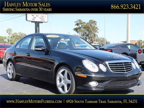 2009 Mercedes-Benz E-Class for sale at Hawley Motor Sales in Sarasota FL