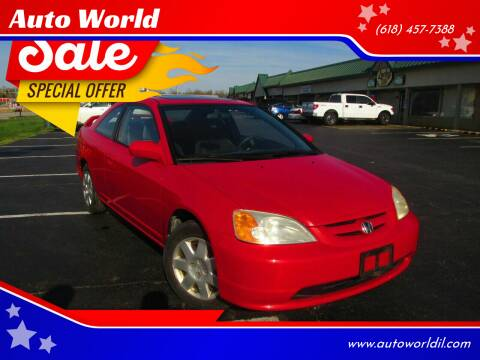 2002 Honda Civic for sale at Auto World in Carbondale IL