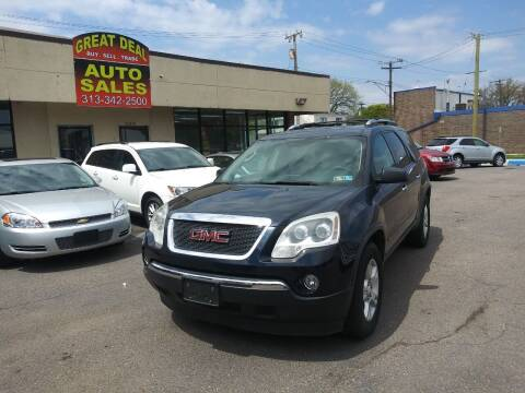 2009 GMC Acadia for sale at GREAT DEAL AUTO SALES in Center Line MI