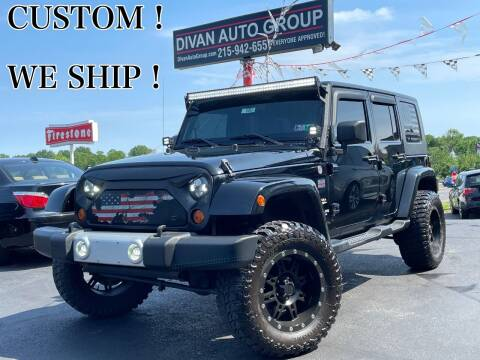 2010 Jeep Wrangler Unlimited for sale at Divan Auto Group in Feasterville PA