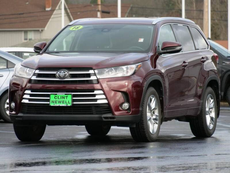 2018 Toyota Highlander for sale at CLINT NEWELL USED CARS in Roseburg OR