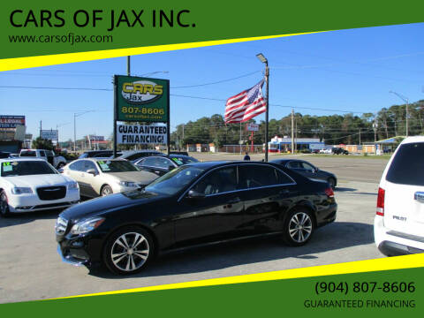 2014 Mercedes-Benz E-Class for sale at CARS OF JAX INC. in Jacksonville FL