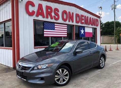 2012 Honda Accord for sale at Cars On Demand 3 in Pasadena TX