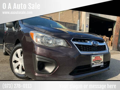 2012 Subaru Impreza for sale at O A Auto Sale - O & A Auto Sale in Paterson NJ