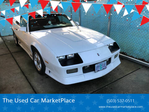 1991 Chevrolet Camaro for sale at The Used Car MarketPlace in Newberg OR