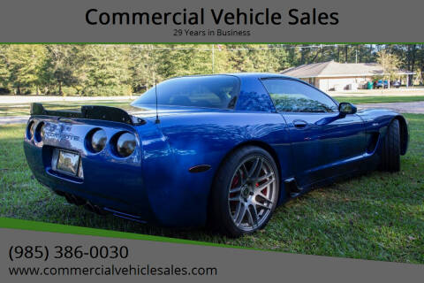 2002 Chevrolet Corvette for sale at Commercial Vehicle Sales in Ponchatoula LA