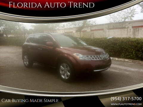 2007 Nissan Murano for sale at Florida Auto Trend in Plantation FL