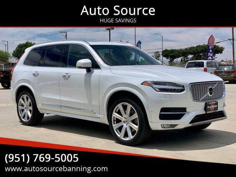2017 Volvo XC90 for sale at Auto Source in Banning CA