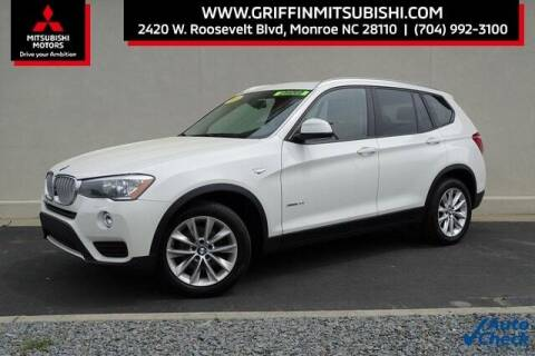 2016 BMW X3 for sale at Griffin Mitsubishi in Monroe NC