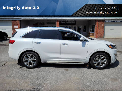 2016 Kia Sorento for sale at Integrity Auto 2.0 in Saint Albans VT
