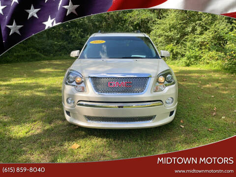 2012 GMC Acadia for sale at Midtown Motors in Greenbrier TN