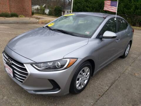 2017 Hyundai Elantra for sale at Hilton Motors Inc. in Newport News VA