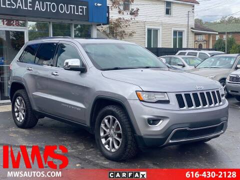 2015 Jeep Grand Cherokee for sale at MWS Wholesale  Auto Outlet in Grand Rapids MI