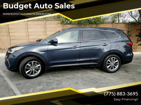 2017 Hyundai Santa Fe for sale at Budget Auto Sales in Carson City NV