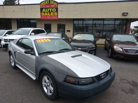 2001 Ford Mustang for sale at GREAT DEAL AUTO SALES in Center Line MI