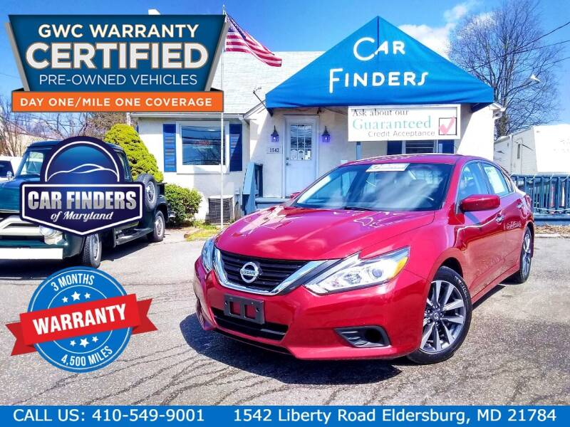 2017 Nissan Altima for sale at CAR FINDERS OF MARYLAND LLC - Certified Cars in Eldersburg MD