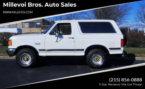 1988 Ford Bronco for sale at Millevoi Bros. Auto Sales in Philadelphia PA