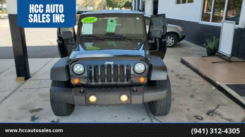 2010 Jeep Wrangler for sale at HCC AUTO SALES INC in Sarasota FL