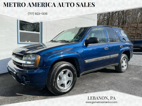 2004 Chevrolet TrailBlazer for sale at METRO AMERICA AUTO SALES of Manheim in Manheim PA