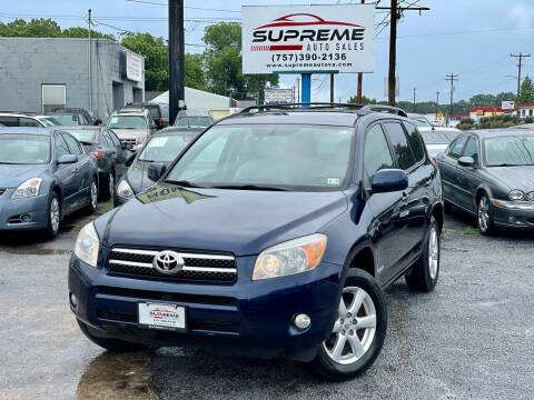 2007 Toyota RAV4 for sale at Supreme Auto Sales in Chesapeake VA