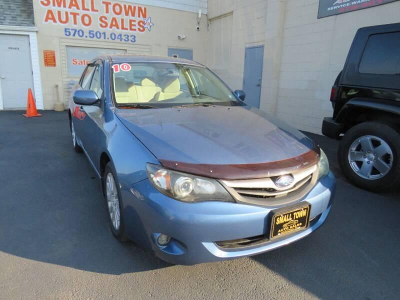 2010 Subaru Impreza for sale at Small Town Auto Sales in Hazleton PA