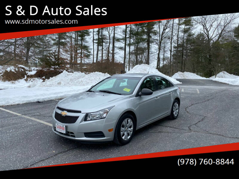 2014 Chevrolet Cruze for sale at S & D Auto Sales in Maynard MA