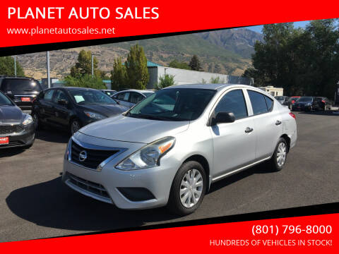 2015 Nissan Versa for sale at PLANET AUTO SALES in Lindon UT