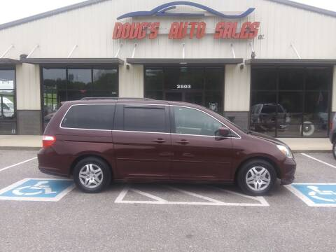2007 Honda Odyssey for sale at DOUG'S AUTO SALES INC in Pleasant View TN