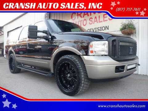 2005 Ford Excursion for sale at CRANSH AUTO SALES, INC in Arlington TX