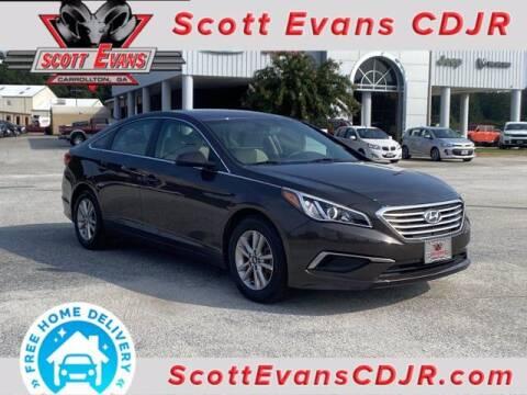 2017 Hyundai Sonata for sale at SCOTT EVANS CHRYSLER DODGE in Carrollton GA