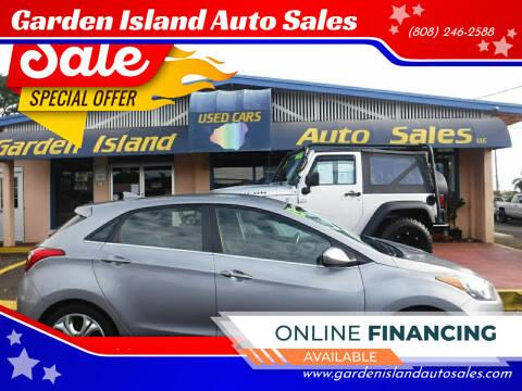 2013 Hyundai Elantra GT for sale at Garden Island Auto Sales in Lihue HI