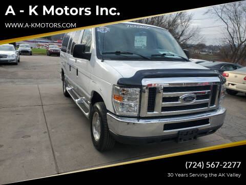 2012 Ford E-Series Cargo for sale at A - K Motors Inc. in Vandergrift PA