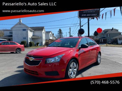 2014 Chevrolet Cruze for sale at Passariello's Auto Sales LLC in Old Forge PA
