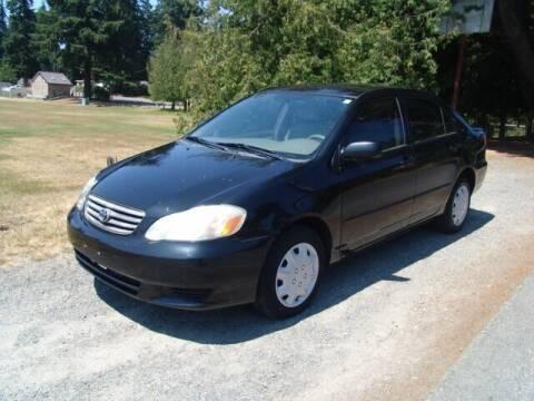 2003 Toyota Corolla for sale at M Motors in Shoreline WA