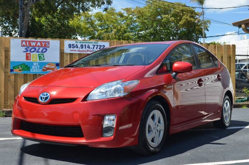 2010 Toyota Prius for sale at ALWAYSSOLD123 INC in Fort Lauderdale FL