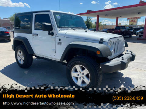 2014 Jeep Wrangler for sale at High Desert Auto Wholesale in Albuquerque NM